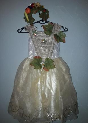 Карнавальный костюм осени девочке