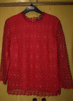 Блуза гипюровая mohito