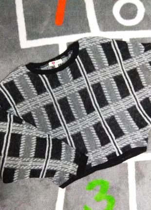 Очень теплый свитер в клетку koton турция