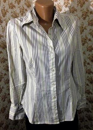 Рубашка блуза esprit размер m в вертикальную полоску