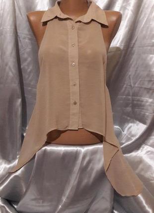 Блуза-накидка с глубокой проймой
