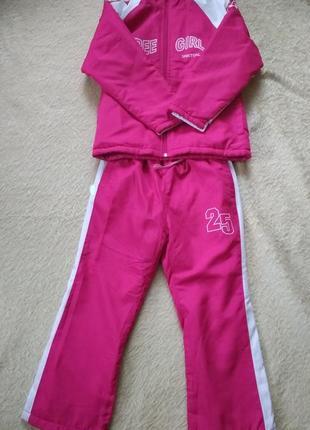 Спортивный костюм на флисе free girl  на девочку  7-8 лет