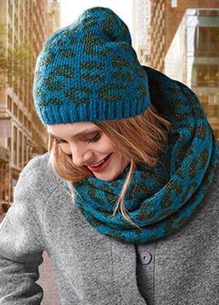 Теплый зимний комплект шапка и снуд от tcm tchibo1