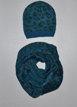 Теплый зимний комплект шапка и снуд от tcm tchibo2
