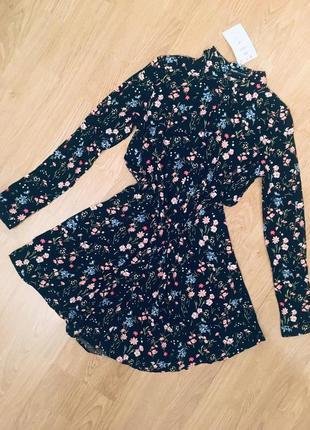 Легкое платье рубашка свободного кроя