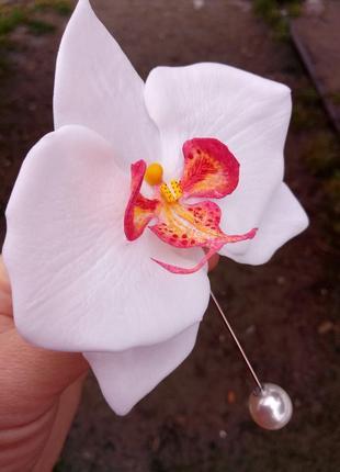 Орхидея. брошь.