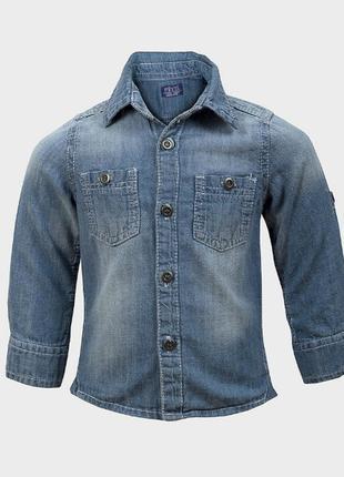 Джинсовая рубашка на модника 5-6 лет f&f