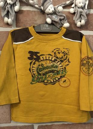 Кiki&koko реглан кофта футболка с длинным рукавом, хлопок, р.92
