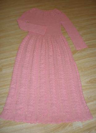 Платье вязаное длинное в пол!
