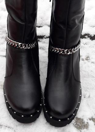 Ботинки берцы кожаные сапоги зимние