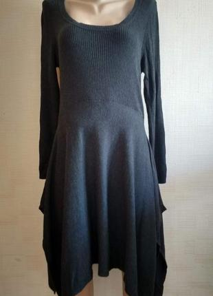 "Тёплое асимметричное платье ""marks & spencer"" deep grey"