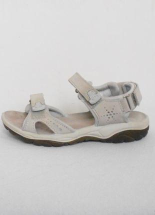 Спортивные кожаные босоножки  сандалии на липучках antistress