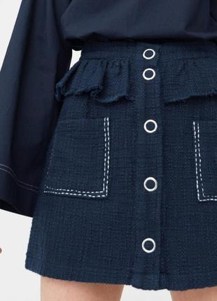 Твидовая юбка mango, размер m, l
