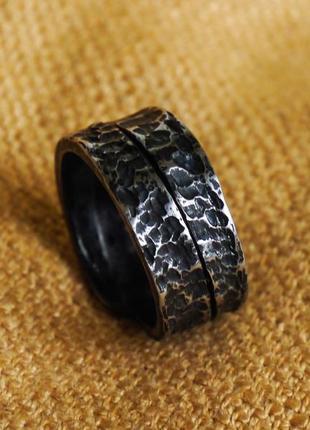 """Коване кольцо із сталі """"дракон"""""""
