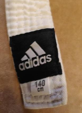 Белый пояс adidas для кимоно, 140см2