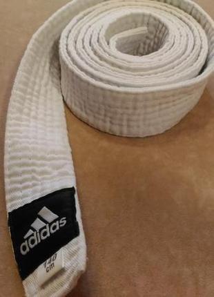 Белый пояс adidas для кимоно, 140см1