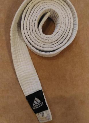 Белый пояс adidas для кимоно, 140см3