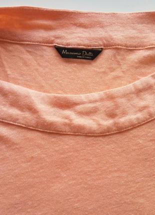 Льняная футболка майка топ  блузка от massimo dutti
