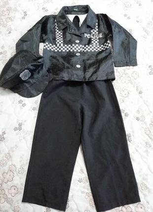 Карнавальный новогодний костюм полицейского 3-4года george