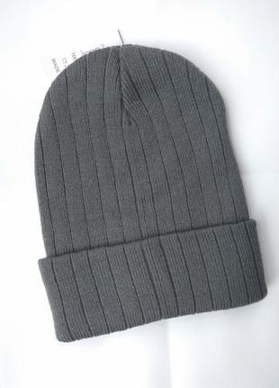 Серая шапочка, шапка бини