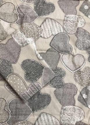 Постельное белье сердца полуторка двуспальное евро семейное1