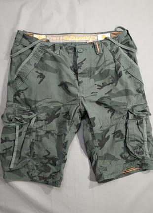 Брендовые мужские шорты superdry милитари