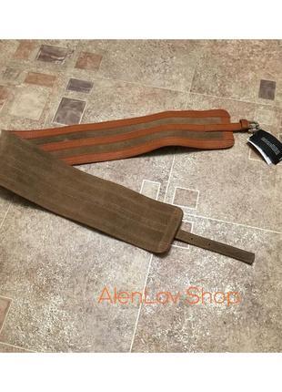 Новый фирменный стильный широкий кожаный  бандажный пояс