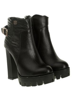 429бп женские ботинки foletti,кожаные,на каблуке,на толстой подошве,на толстом каблуке