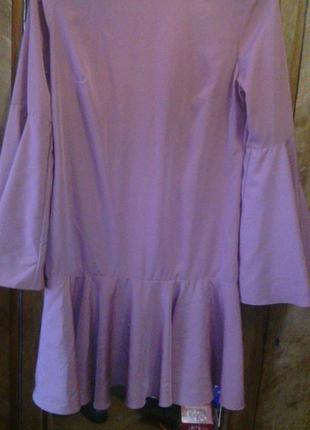 Элегантное платье цвета пудры р.м