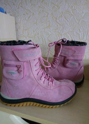 Термо ботинки замшевые