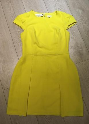 Желтое платье river island размер xl