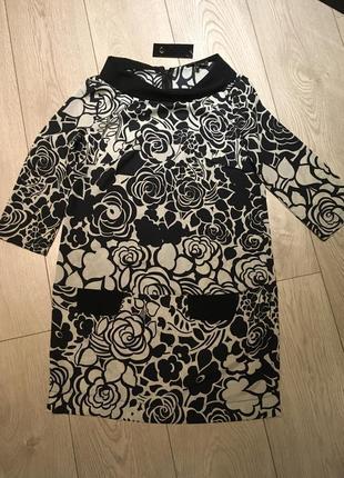 Шелковая блуза туника river island размер m
