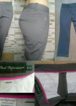 Стильные брюки серого цвета peak performance