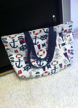 Пляжная тканевая сумка