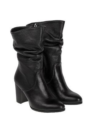 406бп женские полусапожки nivelle,кожаные,на каблуке,на тонкой подошве,на высоком каблуке