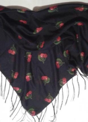 Шарф платок этно черный вишни + 160 шарфов и платков на странице