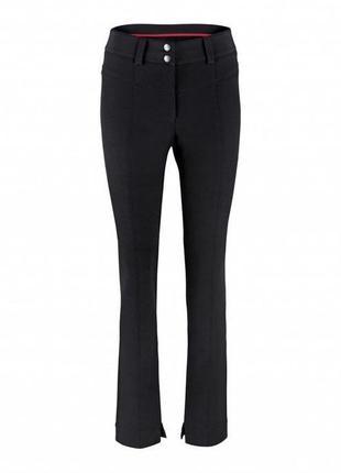 Черные женские термо брюки, штаны зауженные с высокой посадкой tcm tchibo