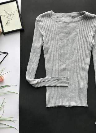 Базовый серый гольф в рубчик /серый свитер /водолазка atm