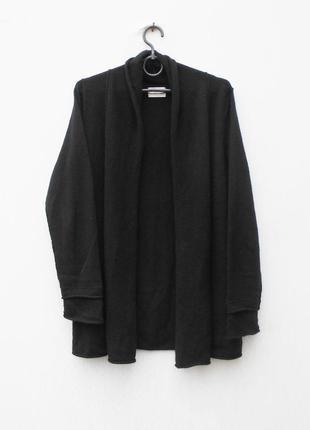 Черный осенний зимний 100% кашемировый кардиган  с длинным рукавом mrs & hugs