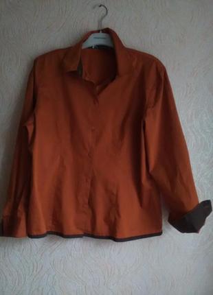 Интересная стильная рубашка biba 48-50размера