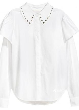 Стильна рубашка  з бусінами h&m1 фото