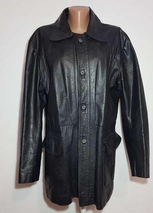 Куртка кожаная xxl-3xl, gama london, сост. отличное!