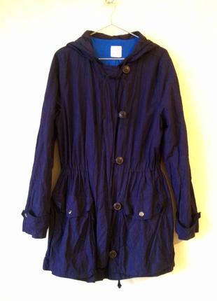 Темно-синий анорак с капюшоном gap р. 14-16 uk