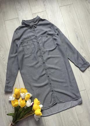 Стильное джинсовое ,  лиоцелевое платье рубашка