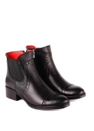 385бз женские ботинки dr.rio,кожаные,на каблуке,на толстой подошве,на низком ходу