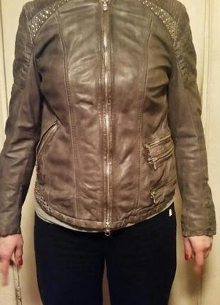 Куртка milestone кожа new