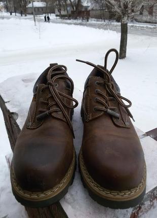 Ботинки - туфли dockers 44р. натуральная кожа