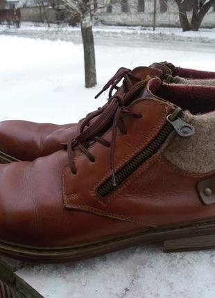 Ботинки из нат.кожи германия rieker 45р.