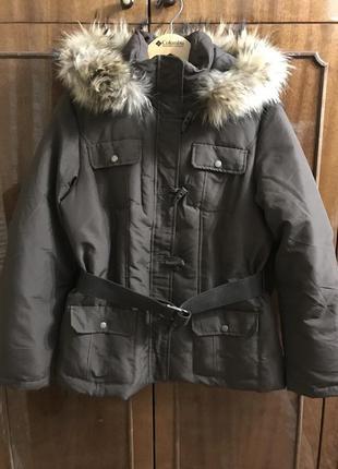 Куртка пуховик finn flare мех енот 🦝