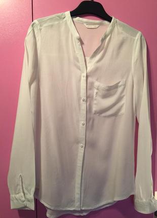 Белая рубашка из вискозы